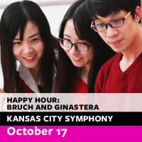 Free Symphony Happy Hour Concert: Bruch and Ginastera