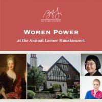 Women Power at the Annual Lerner Hauskonzert
