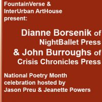 FountainVerse Poetry Reading presented by InterUrban ArtHouse at InterUrban ArtHouse, Overland Park KS
