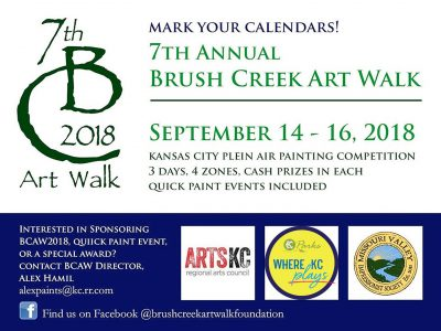 Brush Creek Art Walk 2018 Closing Reception presented by Brush Creek Artwalk Foundation at ,