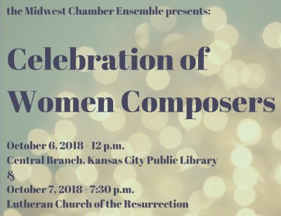 Celebration of Women Composers presented by Midwest Chamber