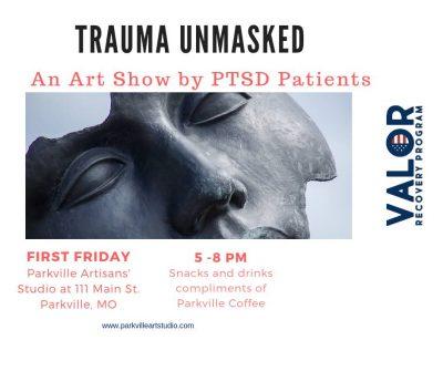 Trauma Unmasked Art Show at Parkville Artisan's Studio