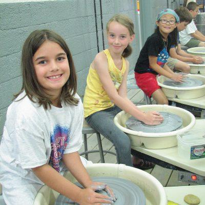 Kids Pottery Wheel Class at Belgar Crane Yard Stud...