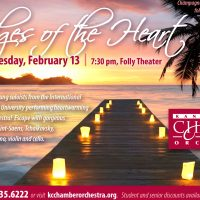 Bridges of the Heart presented by Kansas City Chamber Orchestra at The Folly Theater, Kansas City MO