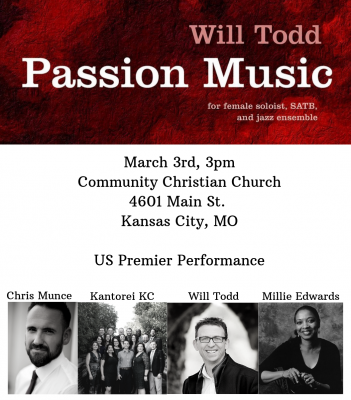 Kantorei KC: Passion Music with Will Todd and Mill...
