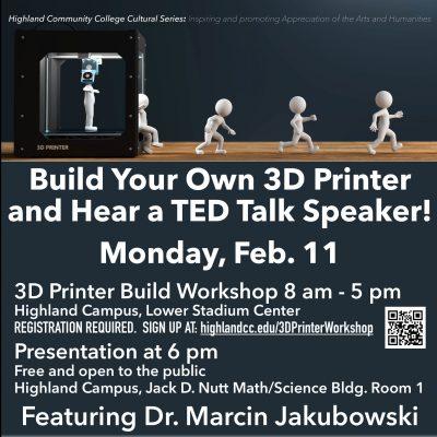 3-D Printer Build and Presentation from Dr. Marcin Jakubowski