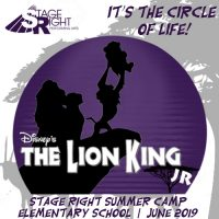 Lion King Jr. Musical Theatre Summer Camps (K-6)