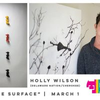 "Travois First Fridays featuring ""Below The Surface"" by Holly Wilson (Delaware Nation/Cherokee)"