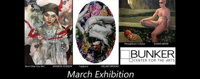 March Exhibition: Susan Kiefer, Molly Allen, Jenni...