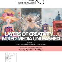 Layers of Creativity…Mixed Media Unleashed presented by Tim Murphy Art Gallery at Tim Murphy Art Gallery, Shawnee KS