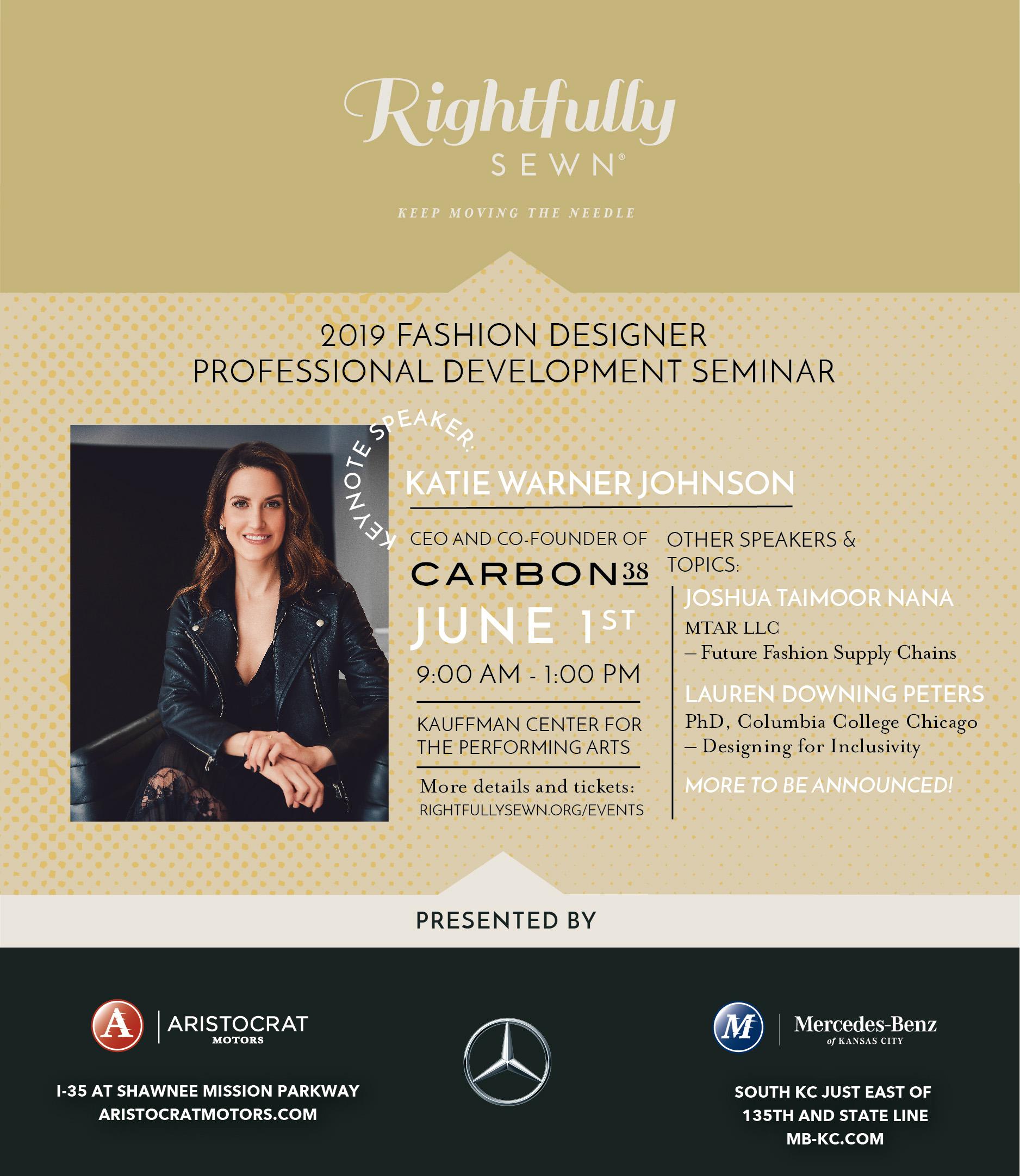 2019 Fashion Designer Professional Development Seminar Rightfully Sewn At Kauffman Center For The Performing Arts Kansas City Mo Art