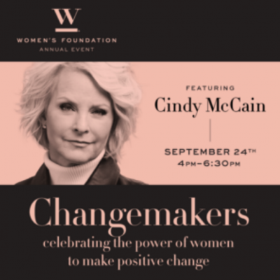 We Work For Change 2019 Annual Event, Featuring Cindy McCain