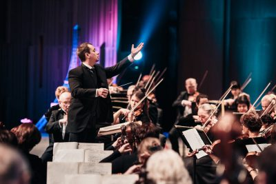 The Siberian State Symphony Orchestra; Vladimir Lande, Music Director and Cheif Conductor presented by Harriman-Jewell Series at Kauffman Center for the Performing Arts, Kansas City MO