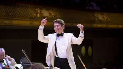 Keith Lockhart and the Boston Pops on tour, Performing 'Lights, Camera… Music! presented by Harriman-Jewell Series at Kauffman Center for the Performing Arts, Kansas City MO