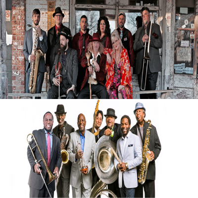 Squirrel Nut Zippers and The Dirty Dozen Brass Band presented by Kauffman Center for the Performing Arts at Kauffman Center for the Performing Arts, Kansas City MO