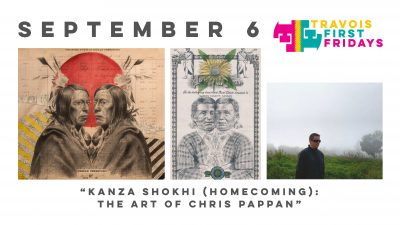 "Travois First Fridays: ""Kanza Shokhi (Homecoming): The Art of Chris Pappan"" by Chris Pappan presented by Travois at Travois, Kansas City MO"