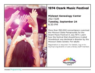 1974 Ozark Music Festival