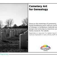 Cemetery Art for Genealogy presented by Midwest Genealogy Center at Midwest Genealogy Center, Independence MO