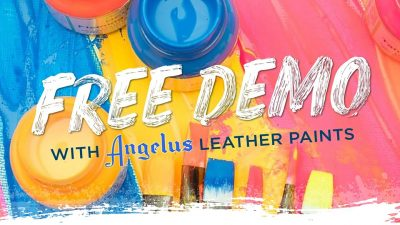 FREE DEMO with Angelus Leather Paints presented by Artist & Craftsman Supply, KC at Artist & Craftsman Supply, KC, Kansas City MO