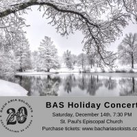 Bach Aria Soloists' Holiday Concert presented by Bach Aria Soloists at ,