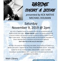 Scott Joplin Ragtime Concert and Lecture presented by Kansas City, Kansas Public Library at ,