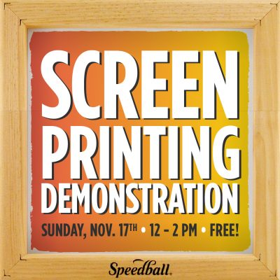 Speedball Screen Printing Demonstration presented by Artist & Craftsman Supply, KC at Artist & Craftsman Supply, KC, Kansas City MO