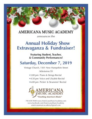 AMA Annual Holiday Show Extravaganza and Fundraiser presented by AMA Annual Holiday Show Extravaganza and Fundraiser at ,