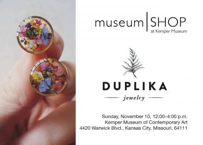 Museum Shop Pop Up: Duplika Jewelry presented by Kemper Museum of Contemporary Art at Kemper Museum of Contemporary Art, Kansas City MO