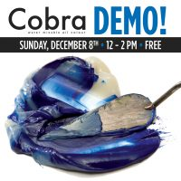 Cobra Water-Mixable Oils Demo presented by Artist & Craftsman Supply, KC at Artist & Craftsman Supply, KC, Kansas City MO