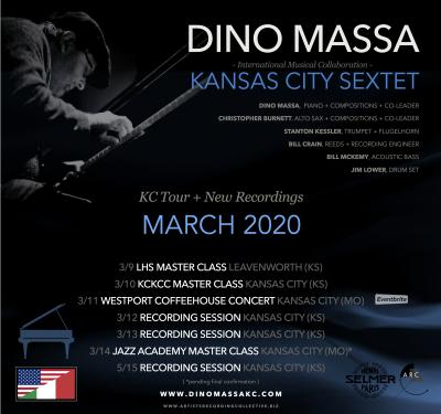 Dino Massa Kansas City Sextet Concert presented by Dino Massa Kansas City Sextet Concert at Westport Coffee House, Kansas City MO