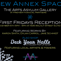 The Arts Asylum First Fridays Gallery Reception and Deck Your Halls Holiday Pop Up Shop presented by The Arts Asylum at ,
