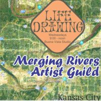 Life Drawing with nude model posing presented by Merging Rivers Artist Guild at ,