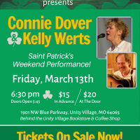 CANCELED – Connie Dover & Kelly Werts (presented by the Acoustic Alcove at Unity Village) presented by Acoustic Alcove at Acoustic Alcove, Lees Summit MO