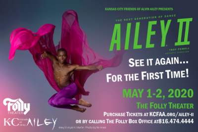 Ailey II Performance presented by Kansas City Friends of Alvin Ailey at The Folly Theater, Kansas City MO