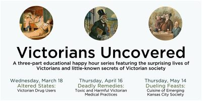 Victorians Uncovered – Dueling Feasts: Cuisine of Emerging Kansas City Society presented by At Home with Sharon: Drawing and Painting Studio at Alexandar Majors House Museum, Kansas City MO