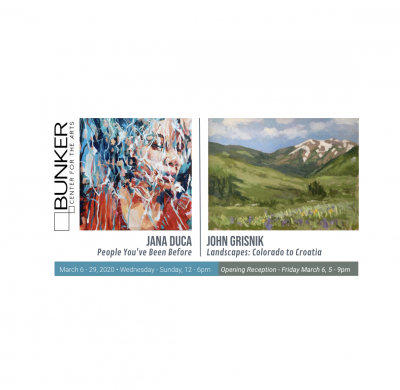 March Exhibitions: Jana Duca | John Grisnik presented by Bunker Center for the Arts at Bunker Center for the Arts, Kansas City MO