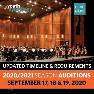 Youth Symphony of Kansas City 2020 Season Auditions presented by Youth Symphony of Kansas City at ,