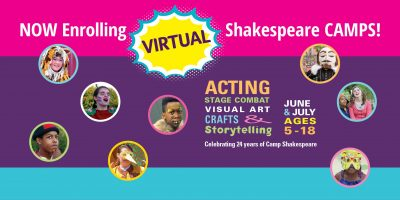 VIRTUAL – Kansas City Young Audiences SHAKESPEARE UNLIMITED SHAKESPEARE SUMMER CAMP presented by Kansas City Young Audiences at Online/Virtual Space, 0 0