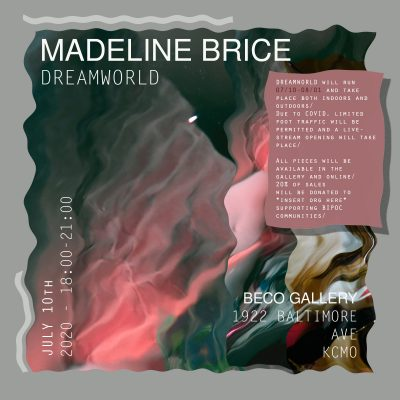 """Madeline Brice """"Dreamworld"""" presented by Home at ,"""