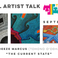 "VIRTUAL- Digital artist talk: ""The Current State"" by Thomas Breeze Marcus (Tohono O'odham Nation) presented by Travois at Travois, Kansas City MO"