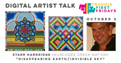 "VIRTUAL- Digital artist talk: ""Disappearing Earth/Invisible Sky"" by Starr Hardridge presented by Travois at Travois, Kansas City MO"