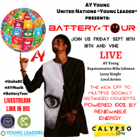 United Nations Young Leader 2020: AY Young live @ the Battery Tour on 18th presented by Battery Tour at The Gem Theater, Kansas City MO