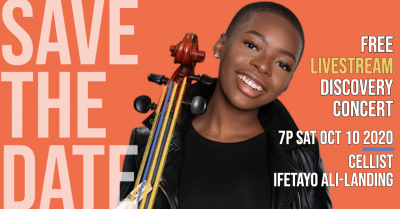 VIRTUAL- Discovery Concert: Ifetayo Ali-Landing, cellist presented by Harriman-Jewell Series at 1900 Building, Mission Woods KS