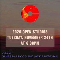 VIRTUAL- 2020 Open Studios Series: Vanessa Aricco & Jackie Hedeman presented by Charlotte Street Foundation at Online/Virtual Space, 0 0