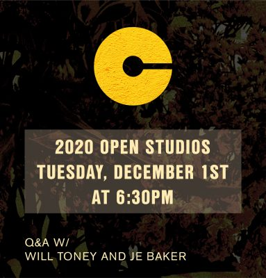 VIRTUAL- 2020 Open Studios Series: William Toney and JE Baker presented by Charlotte Street Foundation at Online/Virtual Space, 0 0