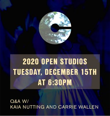 VIRTUAL- 2020 Open Studios Series: Kaia Nutting and Carrie Ann Wallen presented by Charlotte Street Foundation at Online/Virtual Space, 0 0