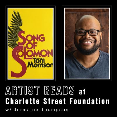 VIRTUAL-Artist Reads  at Charlotte Street with Jermaine Thompson presented by Charlotte Street Foundation at Online/Virtual Space, 0 0