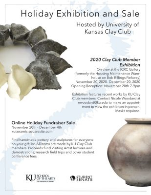 VIRTUAL- Holiday Sale with KU Clay Club presented by Danielle Nicole's Thanksgiving Eve Show at Online/Virtual Space, 0 0