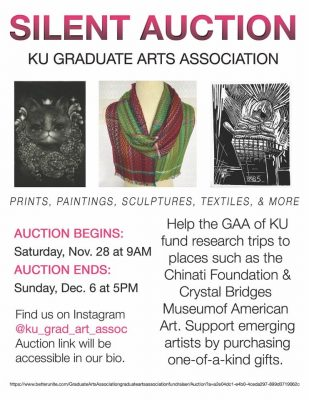 VIRTUAL- Silent Auction: KU Grad Arts Association presented by Danielle Nicole's Thanksgiving Eve Show at ,