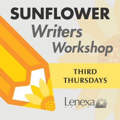 VIRTUAL – Sunflower Writers Workshop presented by Lenexa Parks & Recreation at Online/Virtual Space, 0 0